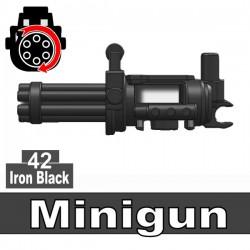 Lego Accessoires Minifig Custom SIDAN TOYS Minigun (mitrailleuse) (Iron Black) (La Petite Brique)
