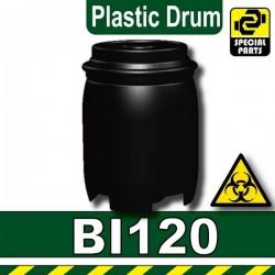 Lego Accessoires Minifig Custom SIDAN TOYS Plastic Drum (Noir) (La Petite Brique)
