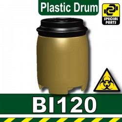 Plastic Drum (Dark Tan)