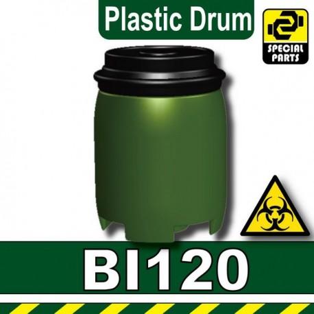 Lego Accessoires Minifig Custom SIDAN TOYS Plastic Drum (Vert Militaire) (La Petite Brique)