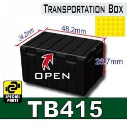 Lego Accessoires Minifig Custom SIDAN TOYS Transportion Box TB415 (Noir) (La Petite Brique)