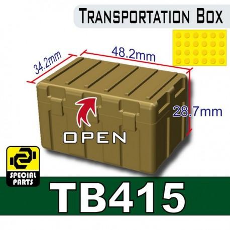 Lego Accessoires Minifig Custom SIDAN TOYS Transportion Box TB415 (Dark Tan) (La Petite Brique)