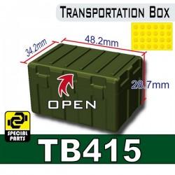 Lego Accessoires Minifig Custom SIDAN TOYS Transportion Box TB415 (Vert Militaire) (La Petite Brique)