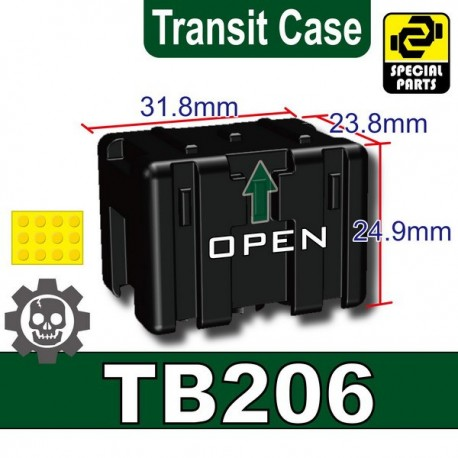 Lego Accessoires Minifig Custom SIDAN TOYS Transit Case TB206 (Noir) (La Petite Brique)