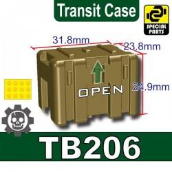 Lego Accessoires Minifig Custom SIDAN TOYS Transit Case TB206 (Dark Tan) (La Petite Brique)