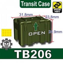Lego Accessoires Minifig Custom SIDAN TOYS Transit Case TB206 (Vert Militaire) (La Petite Brique)