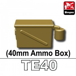 Lego Accessoires Minifig Custom SIDAN TOYS Boite de Munitions 40mm (TE40) (Dark Tan) (La Petite Brique)
