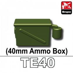 Lego Accessoires Minifig Custom SIDAN TOYS Boite de Munitions 40mm (TE40) (Vert Militaire) (La Petite Brique)