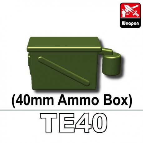 lego custom minifig si dan toys armes boite de munitions 40mm te40 vert militaire la petite. Black Bedroom Furniture Sets. Home Design Ideas