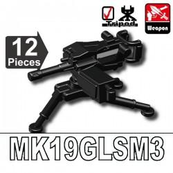 Lego Accessoires Minifig Custom SIDAN TOYS MK19GLSM3 (noir) (La Petite Brique)