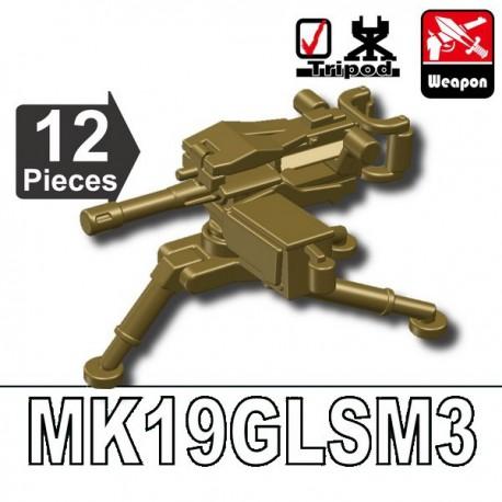 Lego Accessoires Minifig Custom SIDAN TOYS MK19GLSM3 (Dark Tan) (La Petite Brique)