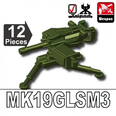 Lego Accessoires Minifig Custom SIDAN TOYS MK19GLSM3 (Vert Militaire) (La Petite Brique)