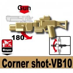 Lego Accessoires Minifig Custom SIDAN TOYS Corner shot VB10 (Dark Tan) (La Petite Brique)