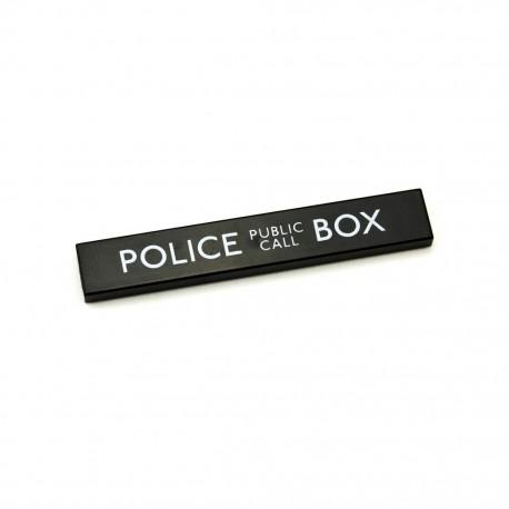 Lego Accessoires Custom CITIZEN BRICK Police Call Box - Tile 1x6 (La Petite Brique)