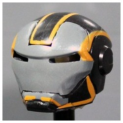 MK Grid Orange Helmet