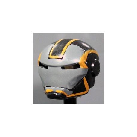 MK Grid Orange Helmet