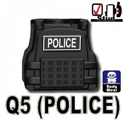 Tactical Vest Q5 Police (Black)