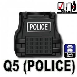 Lego Accessoires Minifig Custom SIDAN TOYS Tactical Vest Q5 Police (Black) (La Petite Brique)