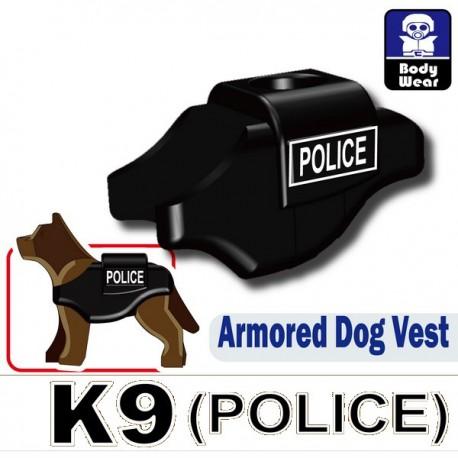 Lego Accessoires Minifig Custom SIDAN TOYS Armored Dog Vest (K9) (POLICE Noir) (La Petite Brique)