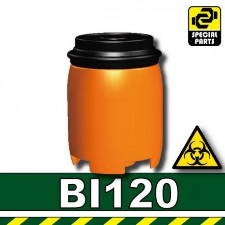 Lego Accessoires Minifig Custom SIDAN TOYS Plastic Drum (Orange) (La Petite Brique)