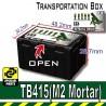Lego Accessoires Minifig Custom SIDAN TOYS Transportion Box TB415 (Black - M2 Mortar) (La Petite Brique)
