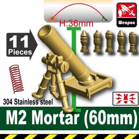 Lego Accessoires Minifig Custom SIDAN TOYS M2 Mortar(60mm) (Dark Tan) (La Petite Brique)
