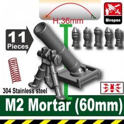 Lego Accessoires Minifig Custom SIDAN TOYS M2 Mortar(60mm) (Iron Black) (La Petite Brique)