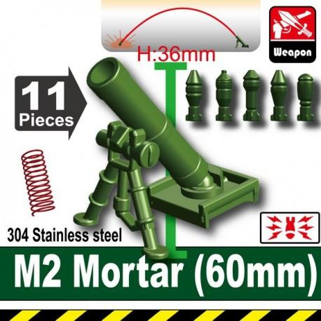 Lego Accessoires Minifig Custom SIDAN TOYS M2 Mortar(60mm) (Vert Militaire) (La Petite Brique)