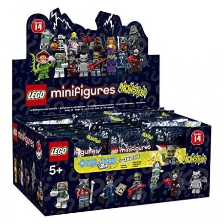 Lego Minifig Serie 14 71010 - 71010- Boite complète de 60 sachets - Série 14 (La Petite Brique)