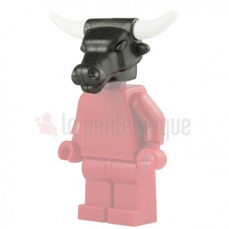 Lego Accessoires Minifig Custom BRICKWARRIORS Tête de Minotaure (Pearl Dark Gray) (La Petite Brique)