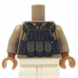 Lego Accessoires Minifig Custom Minifigs'R Us Torse - Modern Torso (Dark Tan) (La Petite Brique)