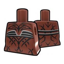 Lego Accessoires Minifig Custom AREALIGHT Torse féminin Marron avec tatouage maléfique (La Petite Brique)