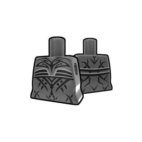 Lego Accessoires Minifig Custom AREALIGHT Torse féminin Dark Gray avec tatouage maléfique (La Petite Brique)