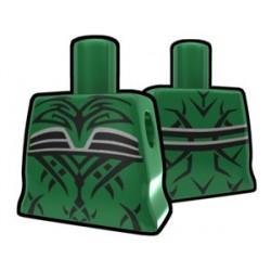 Lego Accessoires Minifig Custom AREALIGHT Torse féminin Vert avec tatouage maléfique (La Petite Brique)