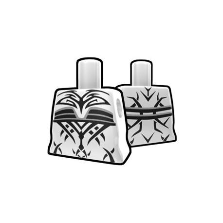 Lego Accessoires Minifig Custom AREALIGHT Torse féminin Blanc avec tatouage maléfique (La Petite Brique)