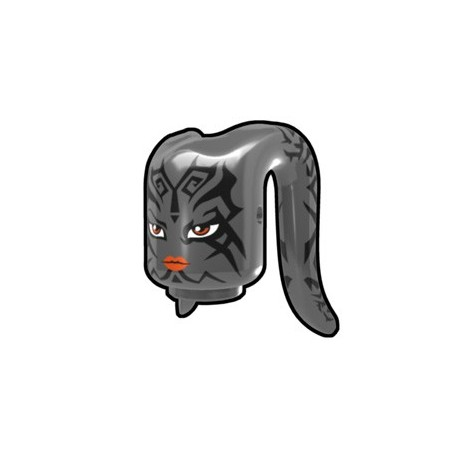 Lego Accessoires Minifig Custom AREALIGHT Tête Tentaculaire Dark Gray Tattoo (La Petite Brique)