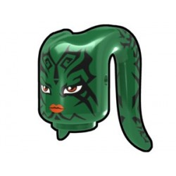Green Tentacle Head with Tattoo Face