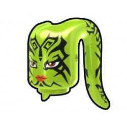 Lime Tentacle Head with Tattoo Face