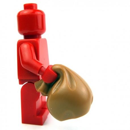 Lego Accessoires Minifig Sac avec poignée (Medium Dark Flesh) (La Petite Brique)
