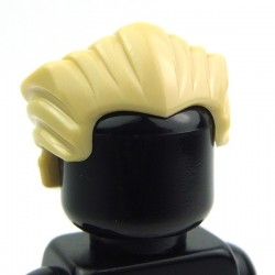 Lego Accessoires Minifig Cheveux en arrière (Tan) (La Petite Brique)