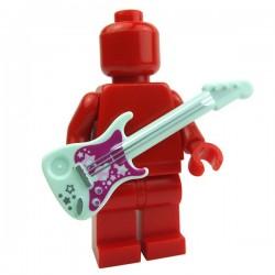 Lego Accessoires Minifig Guitare électrique (Light Aqua) (La Petite Brique)