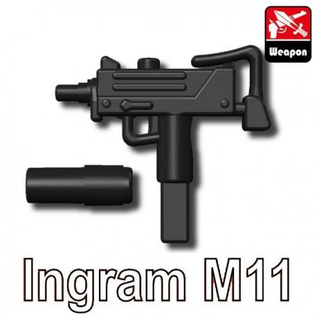 Lego Accessoires Minifig Custom SIDAN TOYS Ingram M11 (noir) (La Petite Brique)