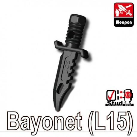 Lego Accessoires Minifig Custom SIDAN TOYS Bayonet L15 (noir) (La Petite Brique)