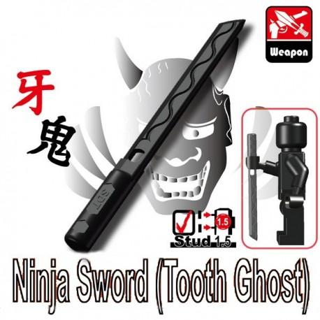 Lego Accessoires Minifig Custom SIDAN TOYS Ninja Sword (Tooth Ghost) (noir) (La Petite Brique)