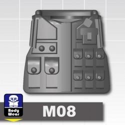 Lego Accessoires Minifig Custom SIDAN TOYS Tactical Vest M08 (Iron Black) (La Petite Brique)