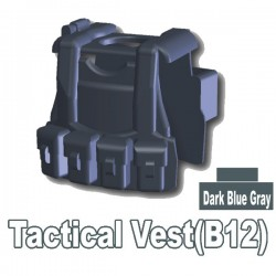Tactical Vest B12 (Dark Bluish Gray)