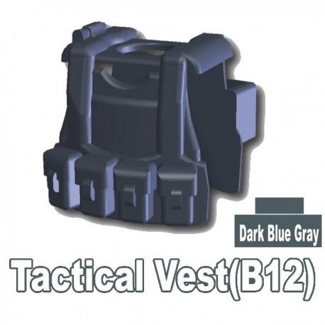 Lego Accessoires Minifig Custom SIDAN TOYS Tactical Vest B12 (Dark Bluish Gray) (La Petite Brique)