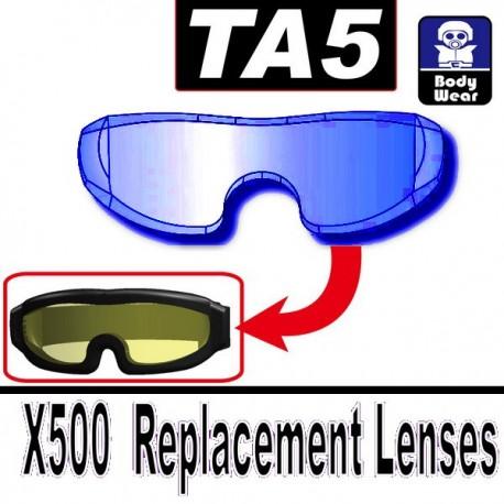 Lego Accessoires Minifig Custom SIDAN TOYS TA5 (verre pour lunette X500) (Trans-Blue) (La Petite Brique)