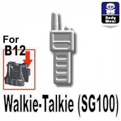 Lego Accessoires Minifig Custom SIDAN TOYS Talkie-Walkie (SG100) (Blanc) (La Petite Brique)