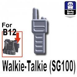 Lego Accessoires Minifig Custom SIDAN TOYS Talkie-Walkie (SG100) (Light Silver) (La Petite Brique)